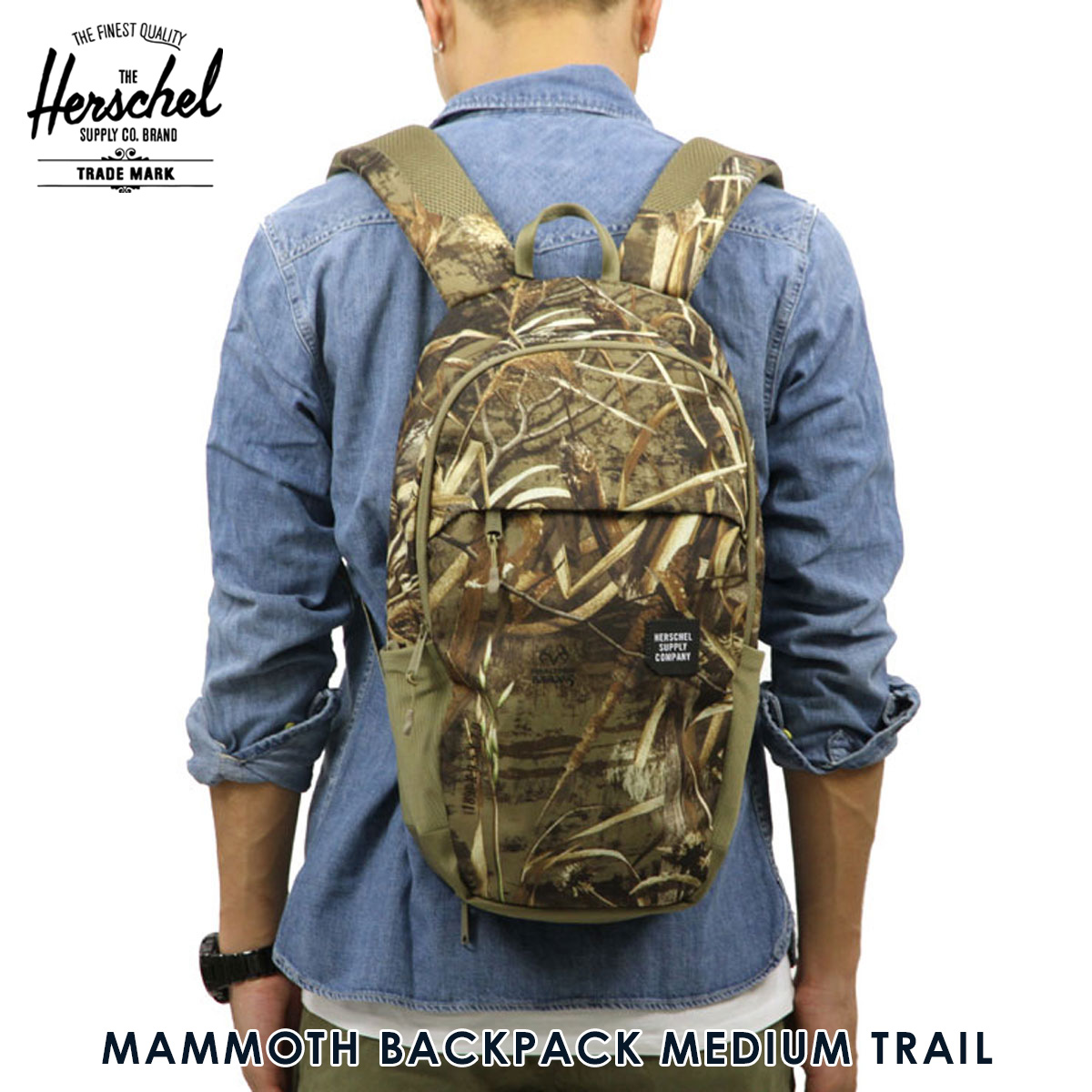 45a7dd3d5b5 Hershel supply Herschel Supply regular store bag MAMMOTH BACKPACK MEDIUM  TRAIL 10269-01454-OS REALTREE D00S15