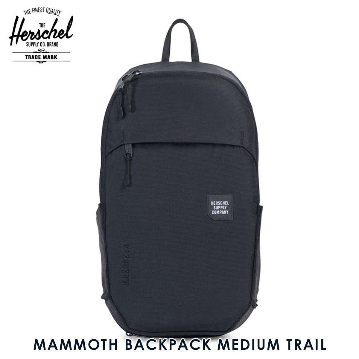 ハーシェル サプライ Herschel Supply 正規販売店 バッグ MAMMOTH BACKPACK MEDIUM TRAIL 10269-01174-OS BLACK D00S15