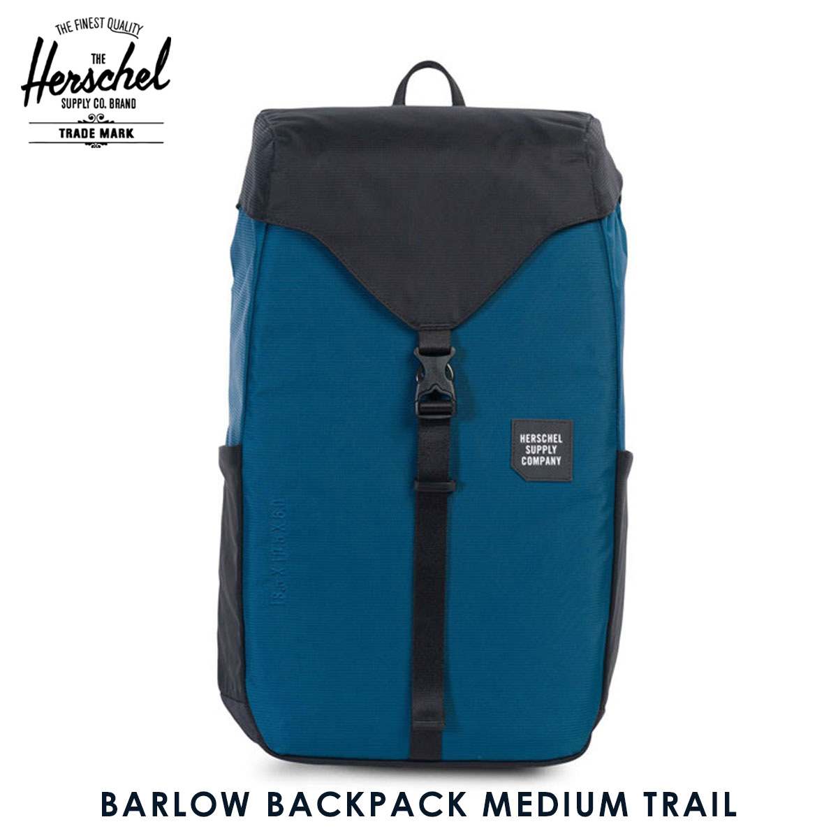 【販売期間 6/4 10:00~6/11 09:59】 ハーシェル バッグ 正規販売店 Herschel Supply ハーシャルサプライ バッグ BARLOW BACKPACK MEDIUM TRAIL 10270-01389-OS LEGION BLUE/BLACK D00S15 父の日
