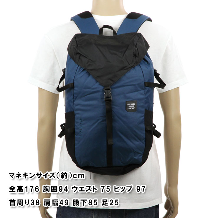Hershel Herschel Supply regular store bag BARLOW BACKPACK LARGE TRAIL  10319-01389-OS LEGION BLUE BLACK fad59dd54cca0