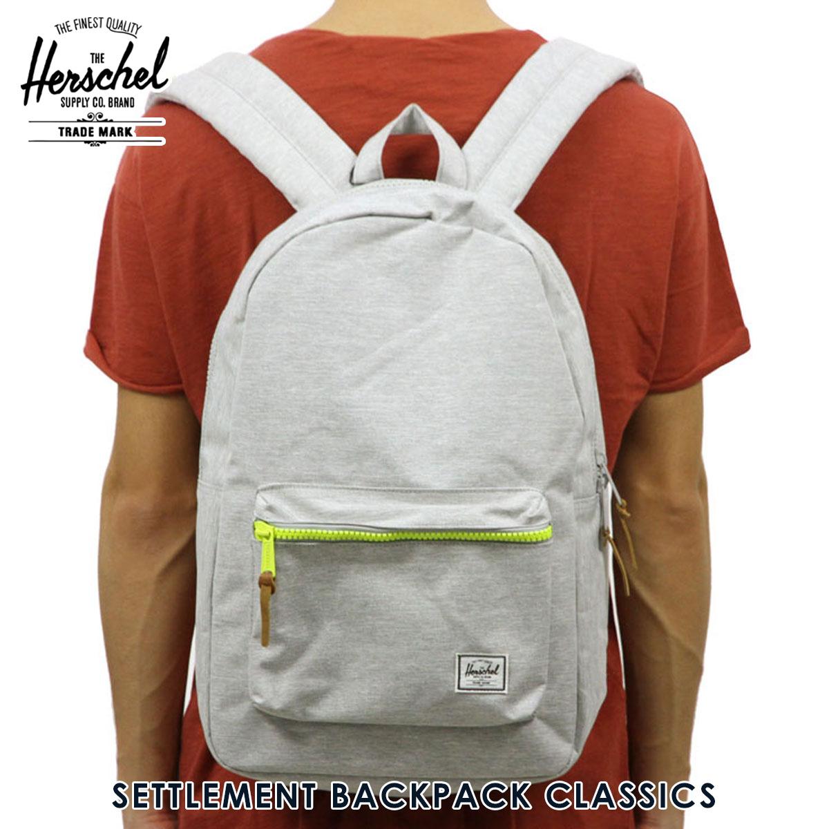 Rakuten Ichiba shop MIXON  Hershel Herschel Supply regular store bag  SETTLEMENT BACKPACK CLASSICS 10005-01460-OS LIGHT GREY CROSSHATCH  565d0bf2865f6