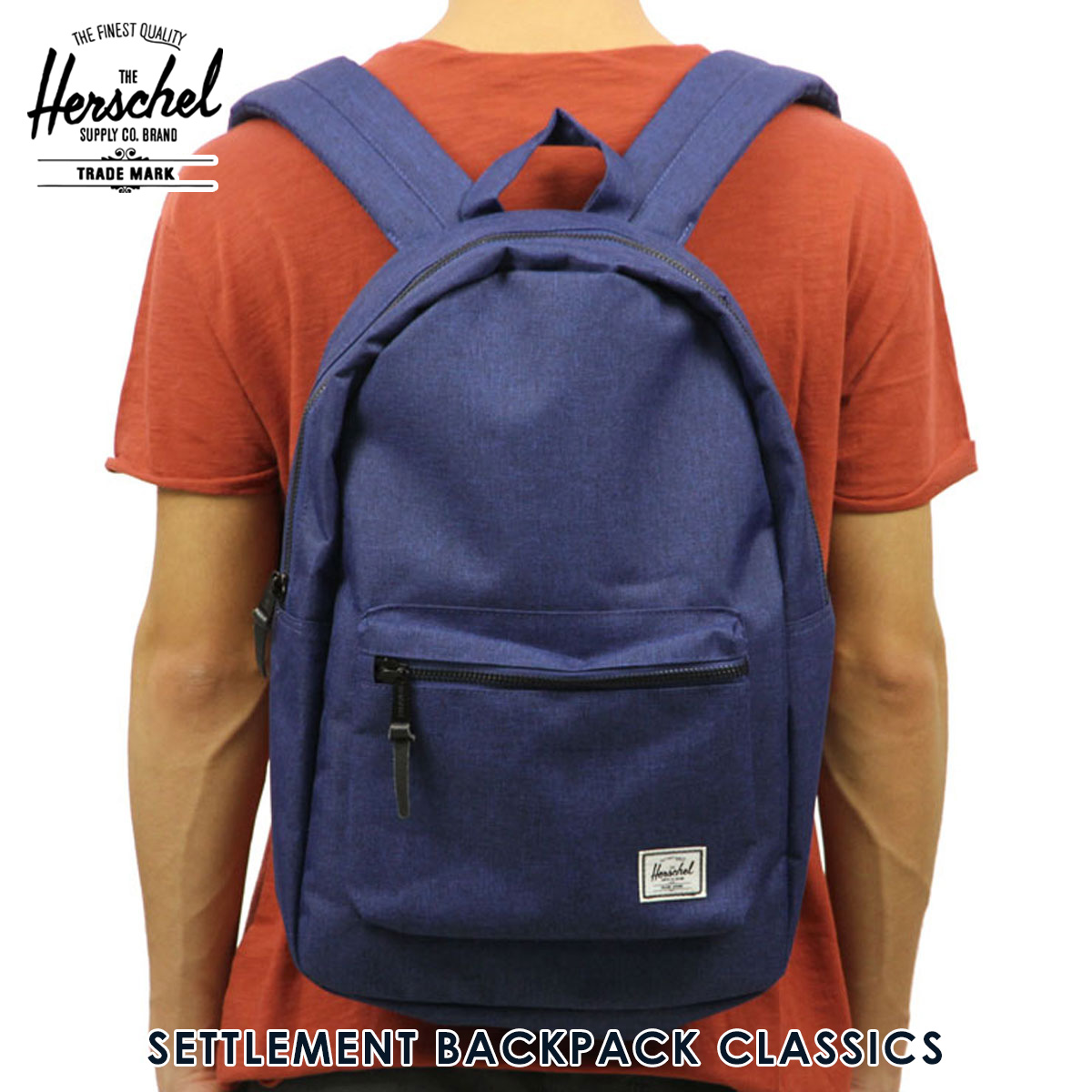 d071bbc96ea Hershel Herschel Supply regular store bag SETTLEMENT BACKPACK CLASSICS  10005-01335-OS ECLIPSE CROSSHATCH