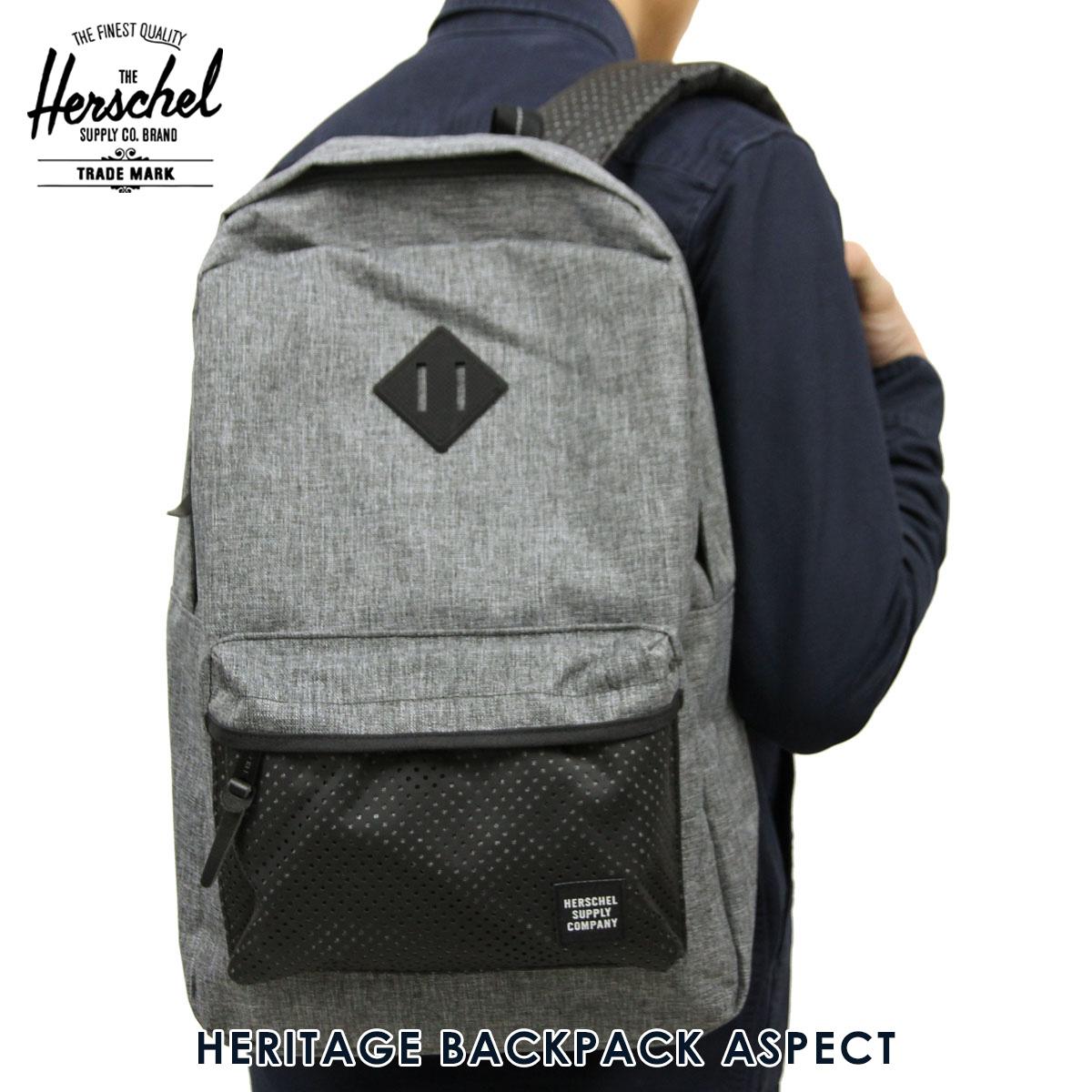 876b0763e7a Hershel supply Herschel Supply regular store backpack HERITAGE BACKPACK  ASPECT 10007-01554-OS RAVEN CROSSHATCH BLACK RUBBER 21.5L