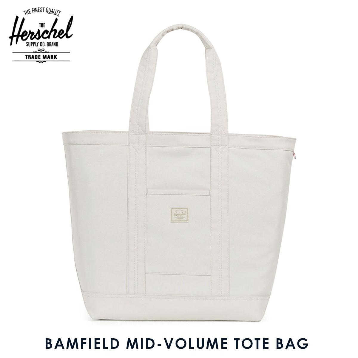 924f42ed7a45 Hershel supply Herschel Supply regular store bag tote bag BAMFIELD MID-VOLUME  TOTE BAG FOUNDATION 10318-01815-OS SILVER BIRCH