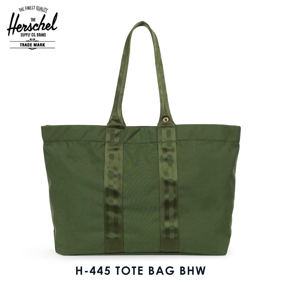 15%OFFセール 【販売期間 9/4 20:00~9/11 01:59】  ハーシェル バッグ 正規販売店 Herschel Supply ハーシャルサプライ 鞄 トートバッグ H-445 TOTE BAG BHW 10418-01983-OS ARMY