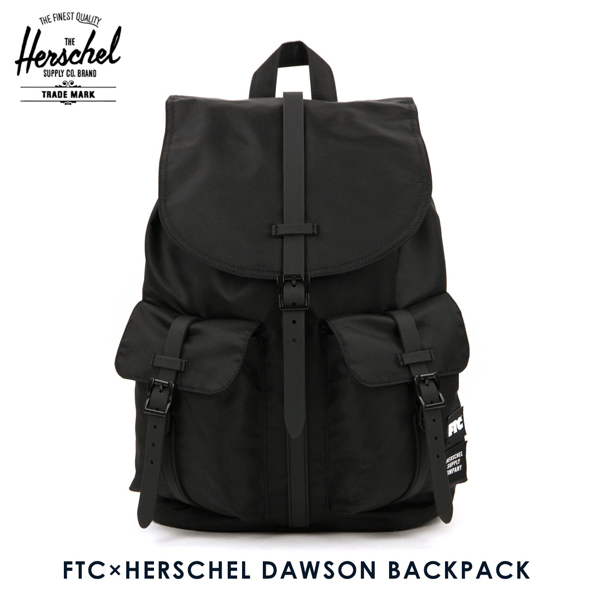 Hershel Herschel bag backpack FTC x HERSCHEL DAWSON BACKPACK  FTC018HSA01BLACK 20.5L 35d054ba7ba4f