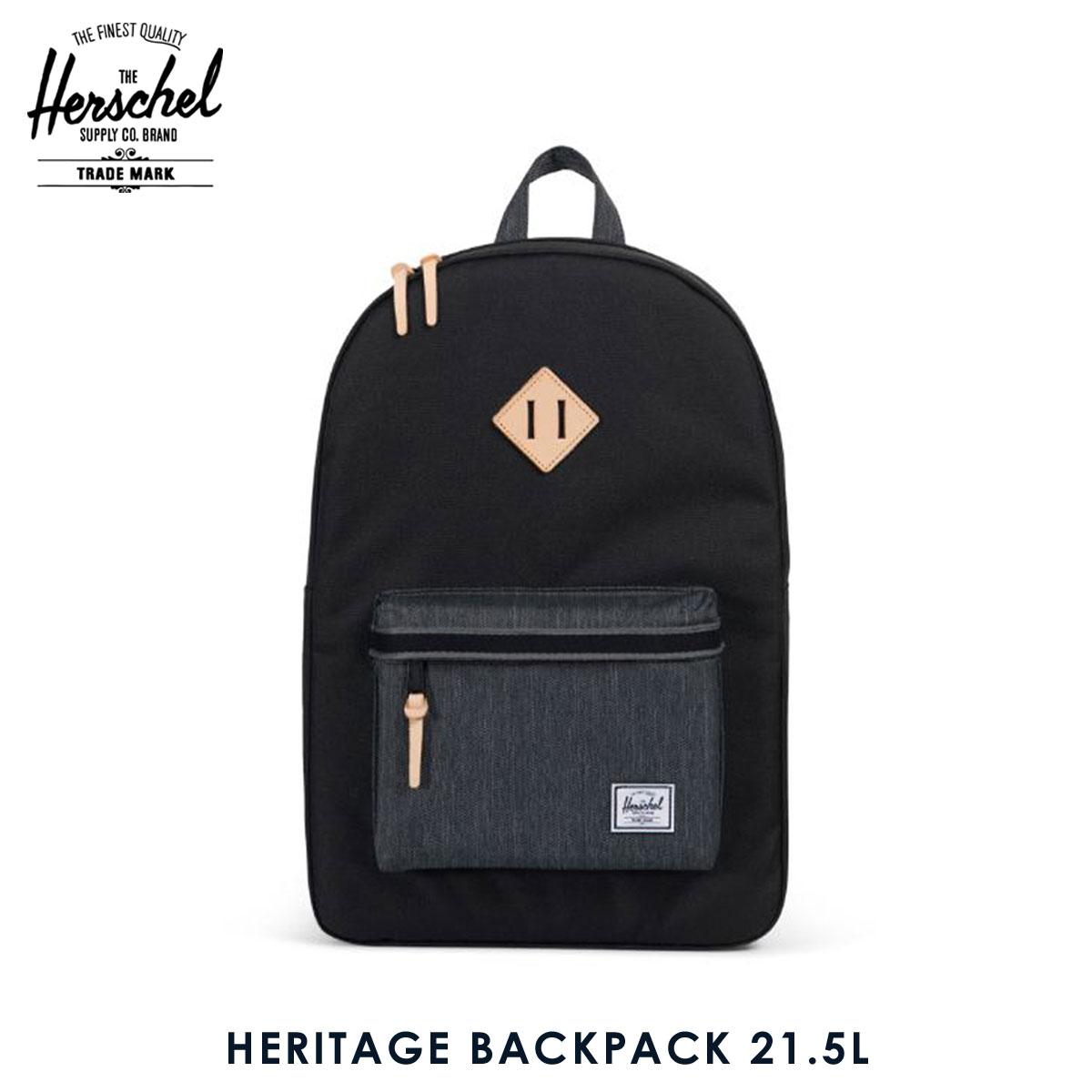 2b27852c0c Hershel supply Herschel Supply regular store backpack rucksack HERITAGE  BACKPACK 10007-02099-OS BLACK BLACK DENIM