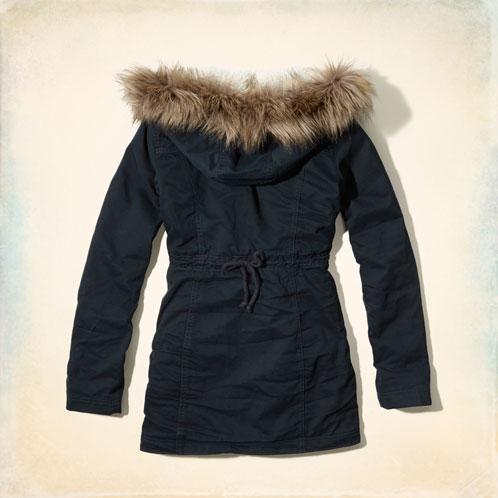 霍利斯特霍利斯特 AE 婦女外套夾克傑克溪斜紋大衣 344-445-0299年-023 10P19Dec15