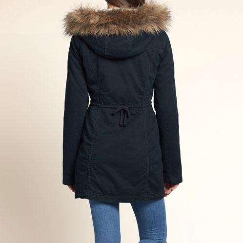 霍利斯特霍利斯特 AE 妇女外套夹克杰克溪斜纹大衣 344-445-0299年-023 P16Sep15 10P23Sep15
