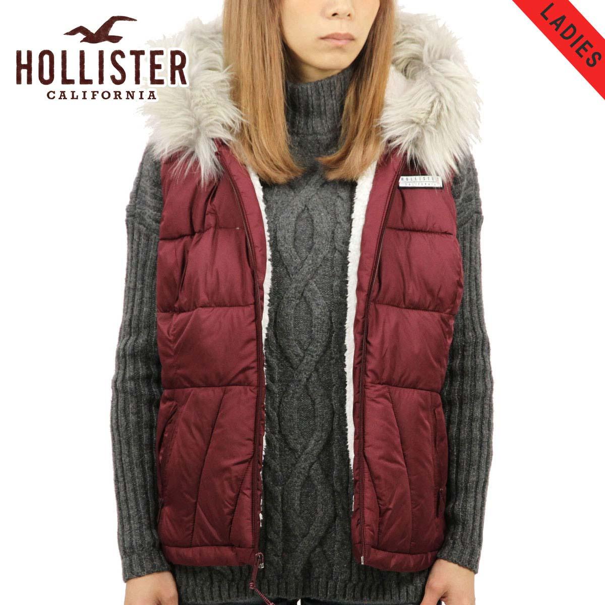 ホリスター アウター レディース 正規品 HOLLISTER ジャケット パファーベスト Sherpa-Lined Hooded Puffer Vest 344-445-0580-520
