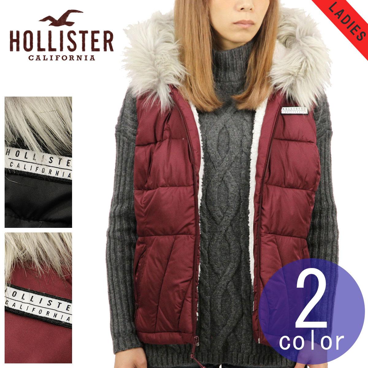 ホリスター HOLLISTER 正規品 レディース アウター ダウン風パファーベスト Sherpa-Lined Hooded Puffer Vest