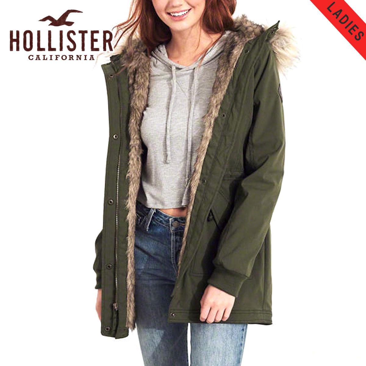 ホリスター HOLLISTER 正規品 レディース アウター フードロングコート Stretch Faux-Fur-Lined Parka 344-445-0674-330