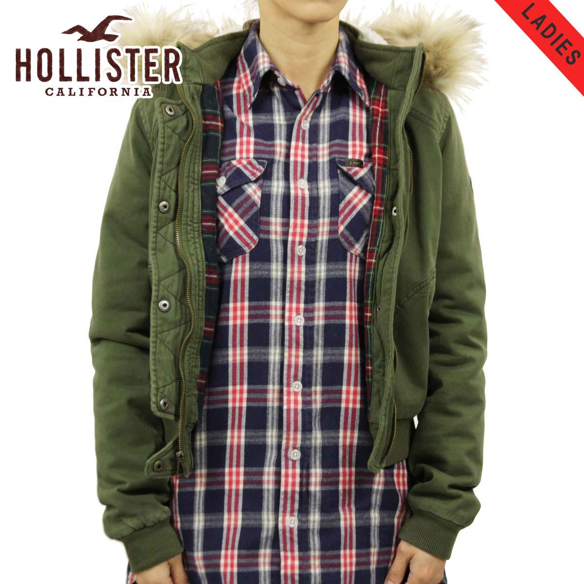 ホリスター HOLLISTER 正規品 レディース アウター ボンバージャケット Stretch Flannel-Lined Twill Bomber Jacket 344-445-0661-330