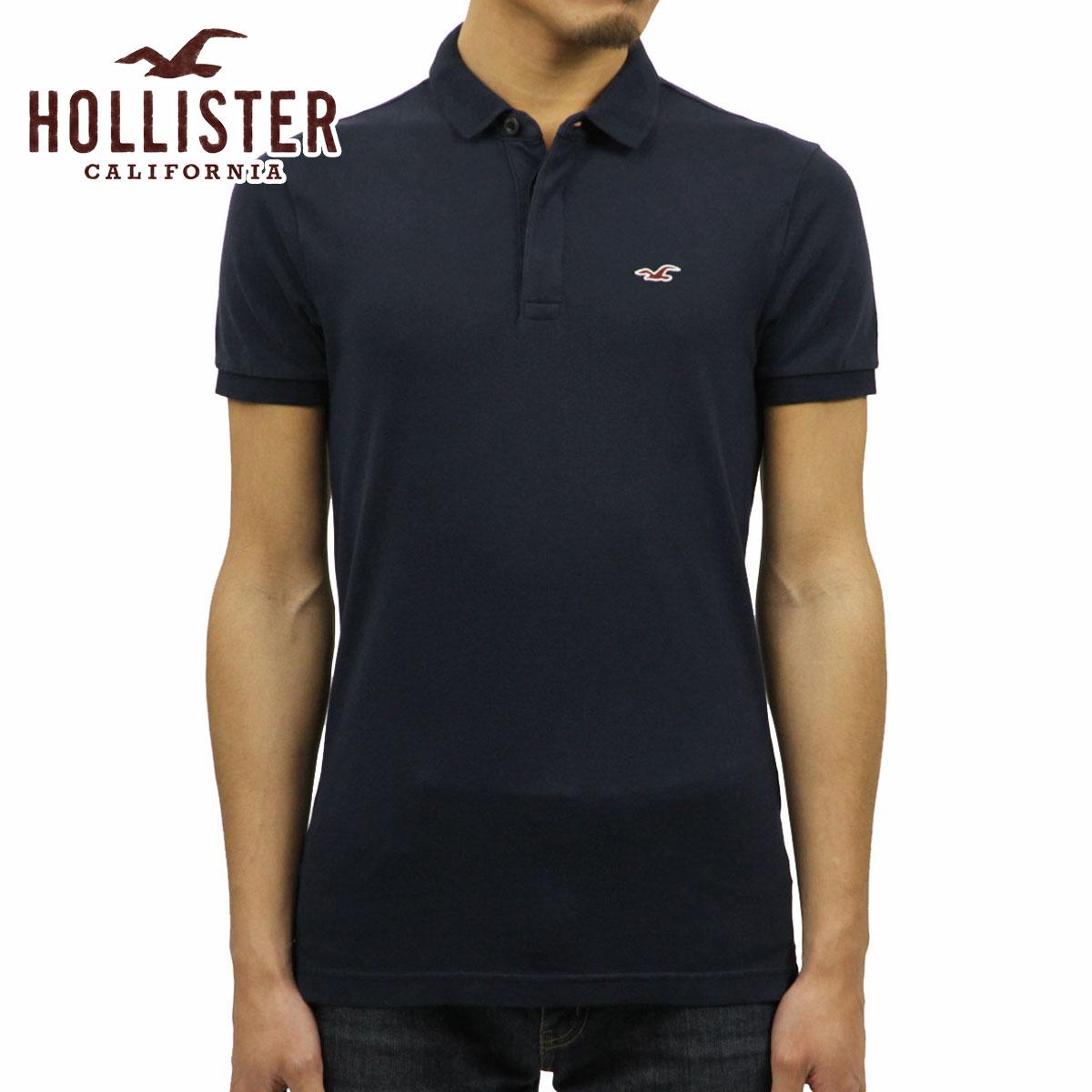 40dace12 Hori star HOLLISTER regular article men slim FITONE point logo short  sleeves polo shirt Stretch Shrunken ...