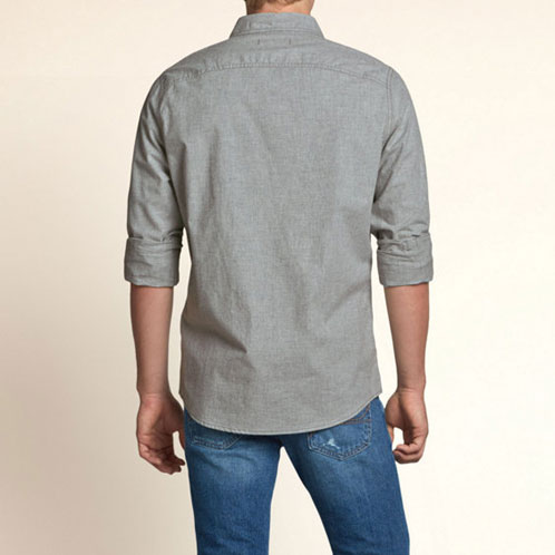 Hollister HOLLISTER AE men's long sleeve shirt San Pedro Bay Shirt 325-259-1098-019 10P13Nov14