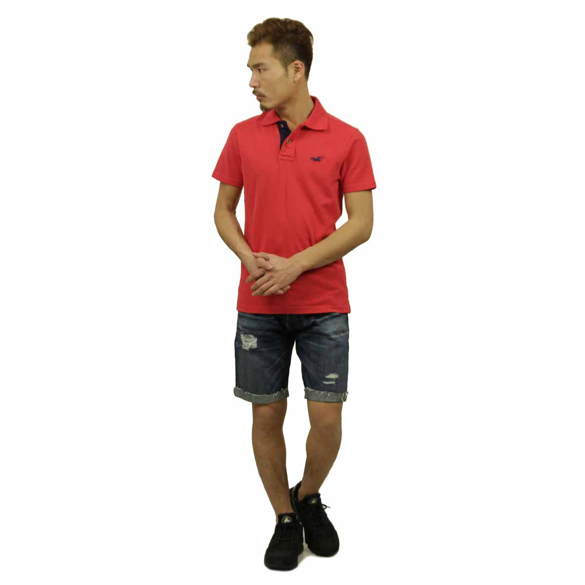 Hollister HOLLISTER AE men's polo shirt Pearl Street Polo 321-364-0415-050 P06Dec14