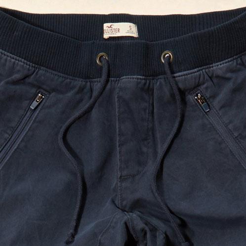 hollister twill jogger pants