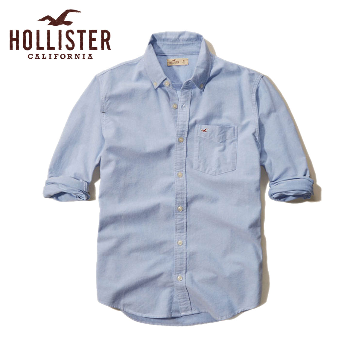 horisuta HOLLISTER正规的物品人长袖子衬衫Solid Oxford Shirt 325-259-1431-210