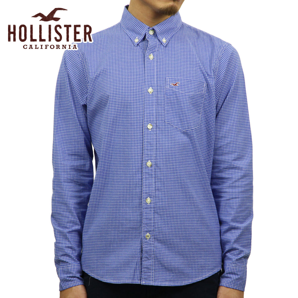 be7a535e Hori star HOLLISTER regular article men long sleeves shirt Plaid Poplin  Shirt Epic Flex 325- ...