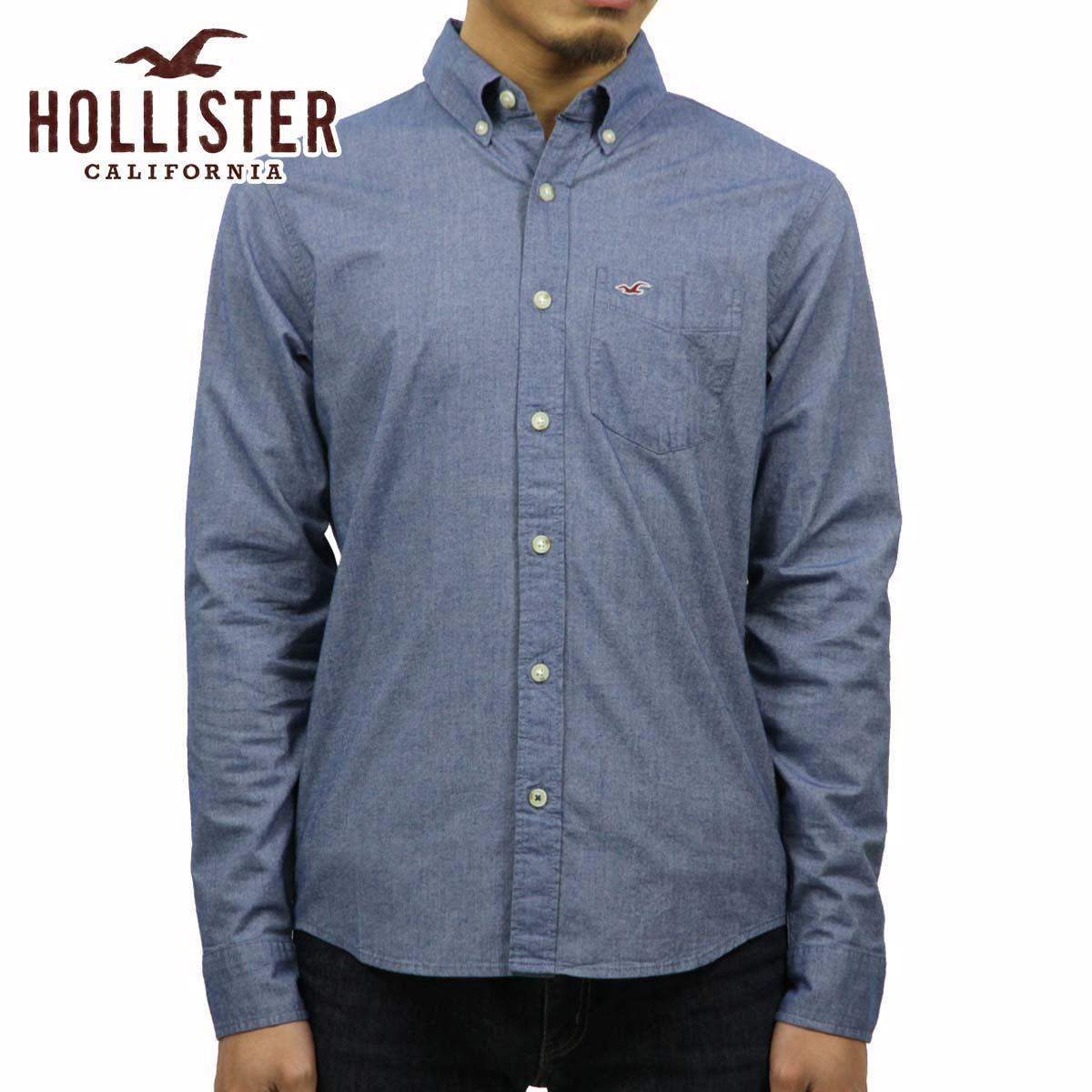 horisuta HOLLISTER正規的物品人長袖子襯衫Iconic Poplin Shirt Epic Flex 325-259-1586-222