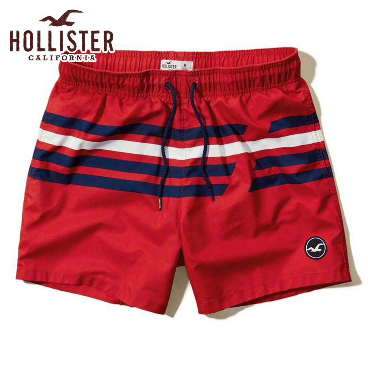 874e5b0b2da24 Hori star HOLLISTER regular article men swimming underwear swimsuit Stripe  Guard Fit Swim Shorts 333- ...