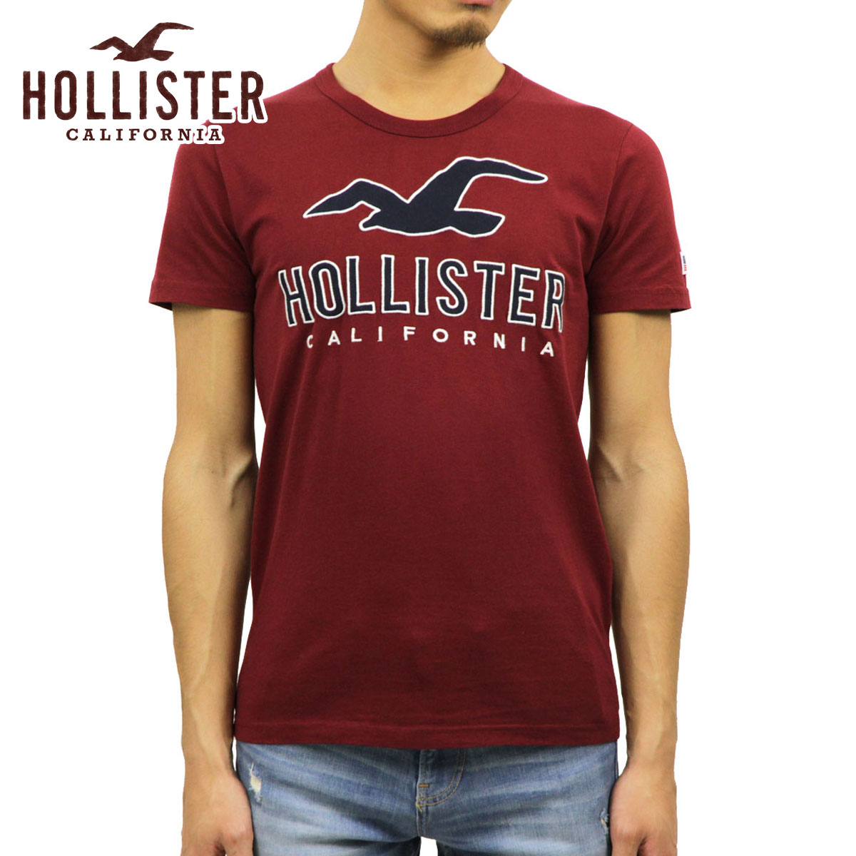0d12bc9c Hori star HOLLISTER regular article men short sleeves logo T-shirt Logo  Graphic Tee 323 ...