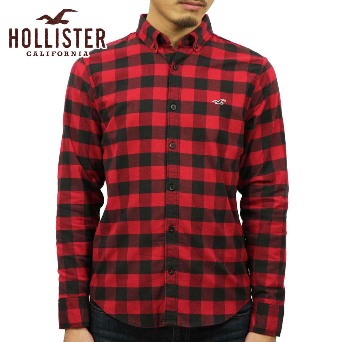 f5c36d07 Hori star HOLLISTER regular article men long sleeves shirt Stretch Poplin Slim  Fit Shirt 325- ...