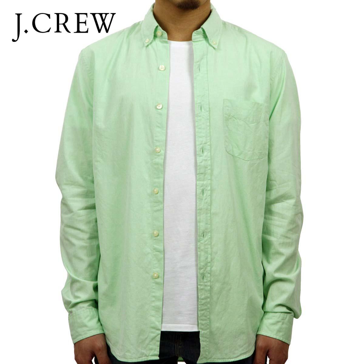 ジェイクルー シャツ メンズ 正規品 J.CREW 長袖シャツ ボタンダウンシャツ グリーン