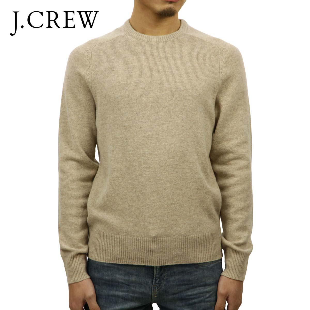 ジェイクルー セーター メンズ 正規品 J.CREW LAMBSWOOL CREWNECK SWEATER BEIGE