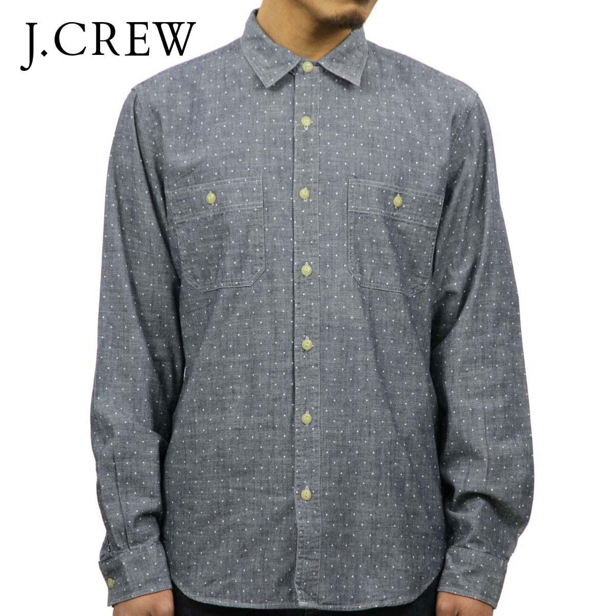 ジェイクルー J.CREW 正規品 メンズ 長袖シャンブレーシャツ Dot Chambray Shirts 03833 D20S30