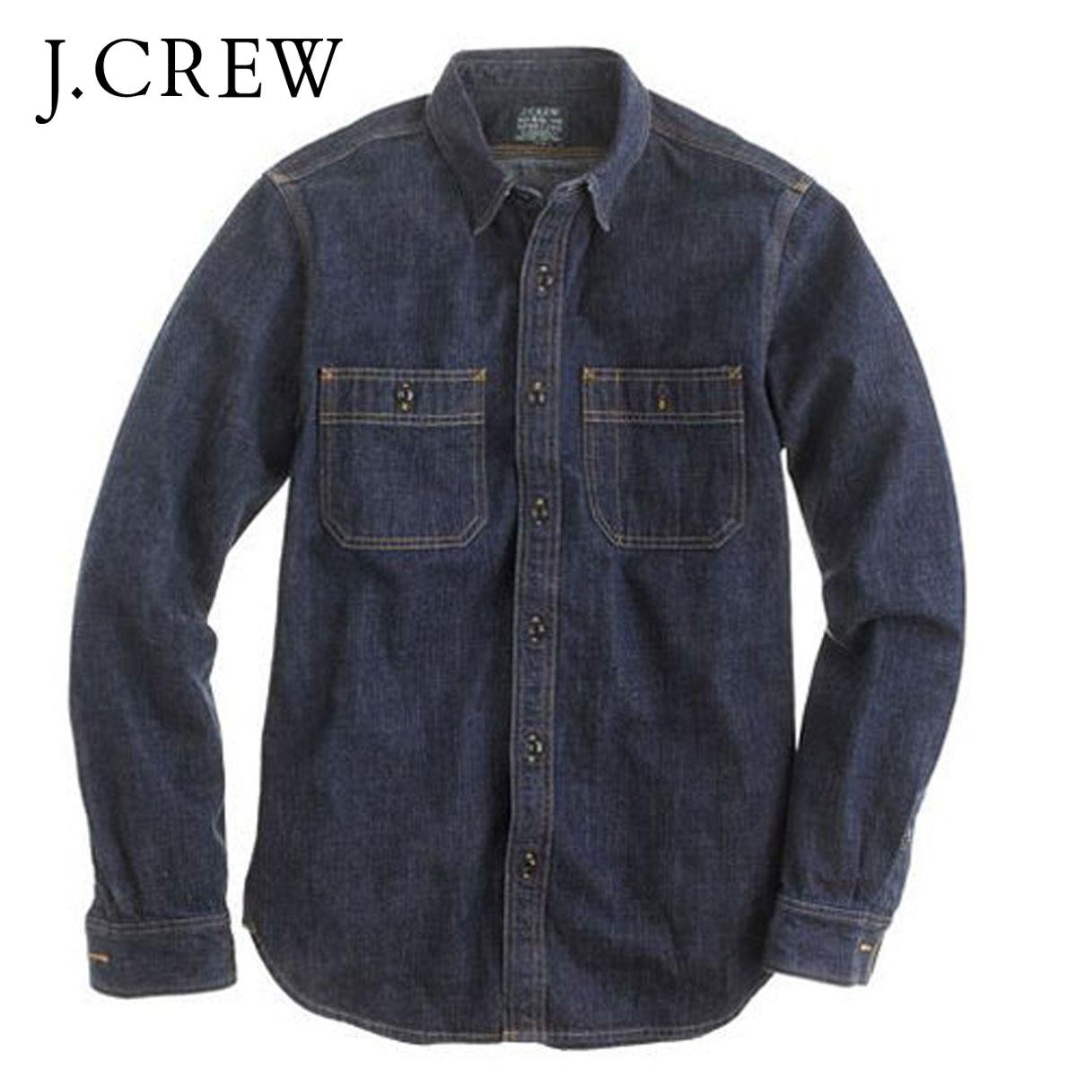 7194afe54ee3f Rakuten Ichiba shop MIXON  J.crew J.CREW AE men s long sleeve denim shirt  SELVEDGE INDIGO DENIM SHIRT 05040 NAVY 10P13Dec14