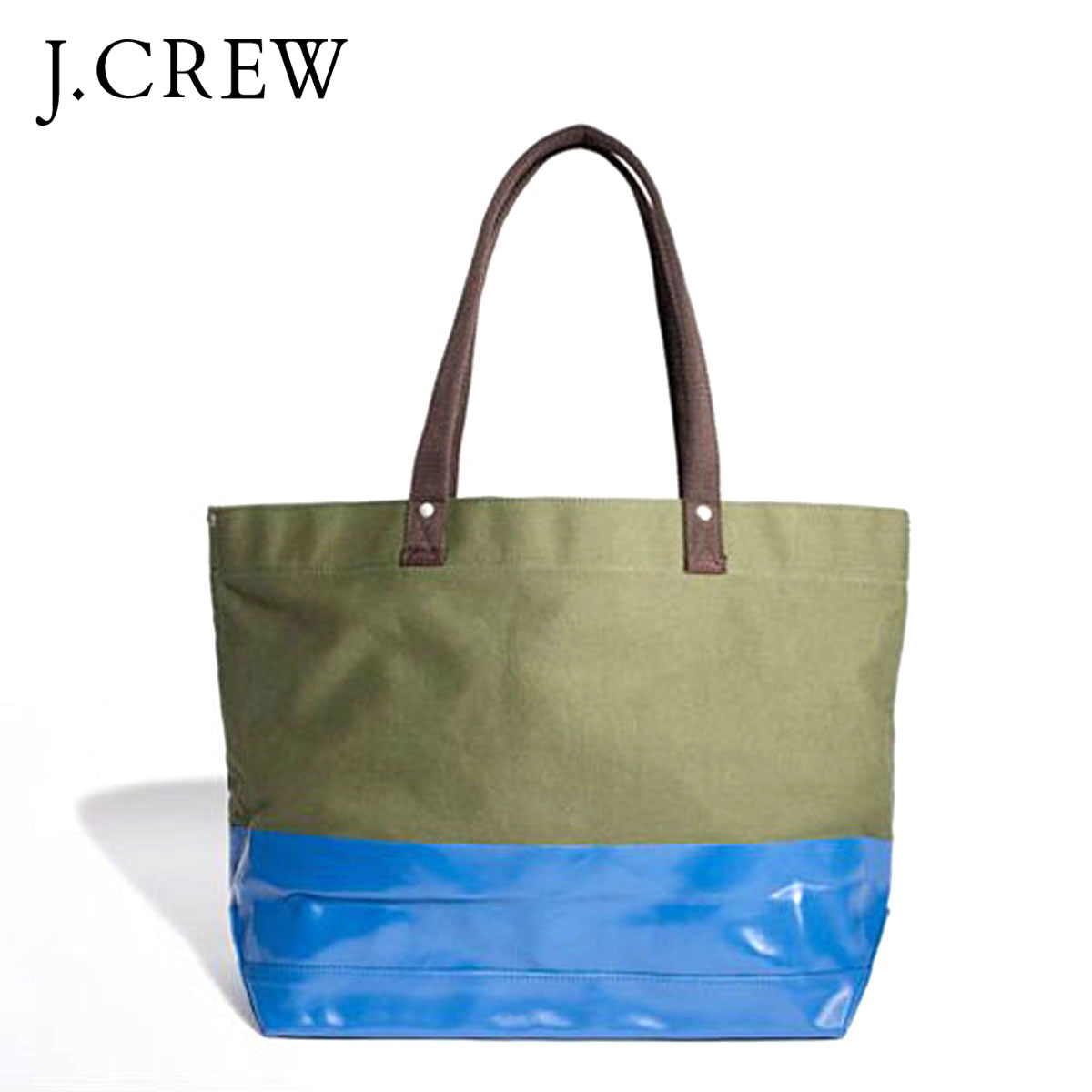 50 Off J Crew Bag Men S Regular Article Tote Colorblock Canvas H35xw37xd17 Olive D