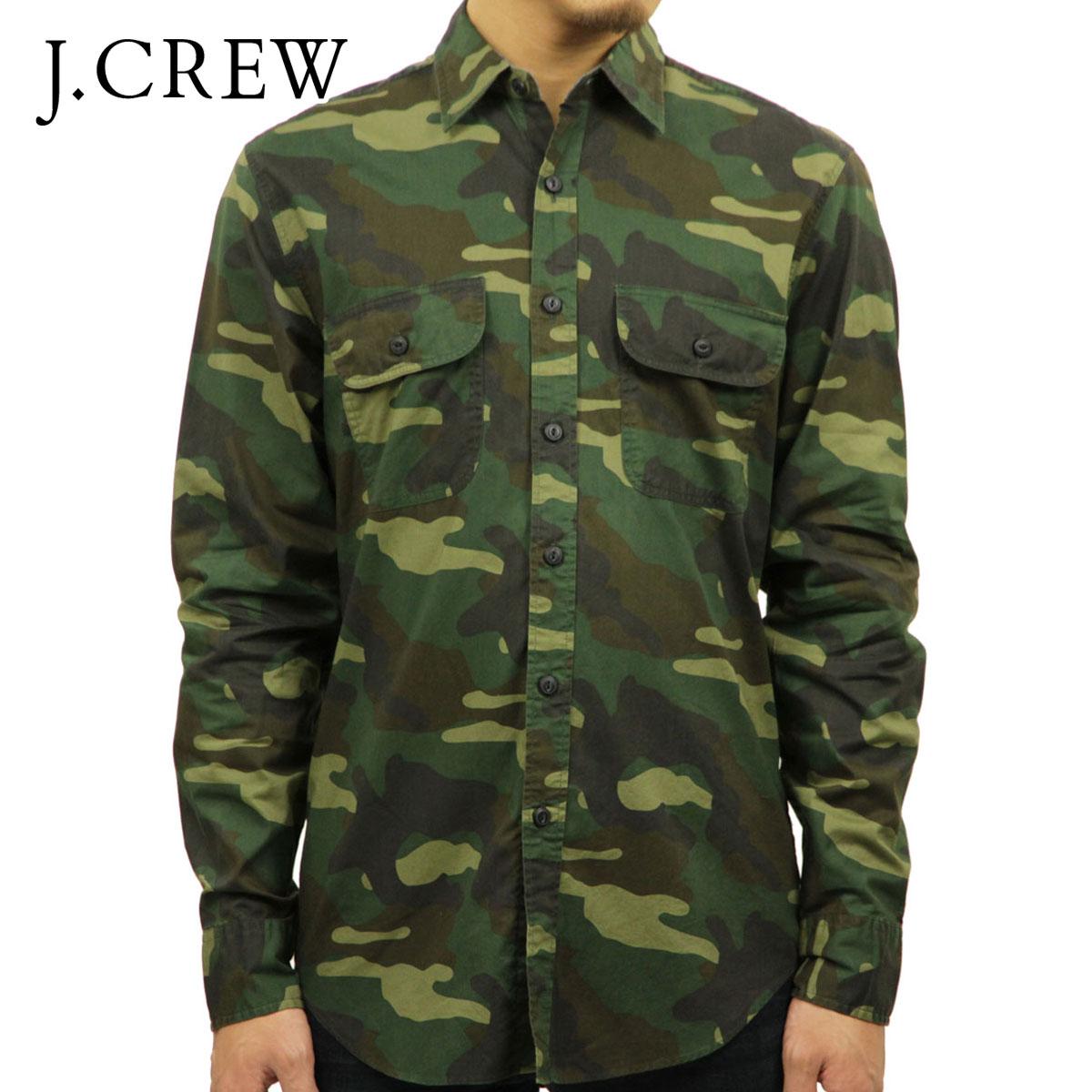 ジェイクルー J.CREW 正規品 メンズ 長袖シャツ CAMP SHIRT IN CAMO D20S30