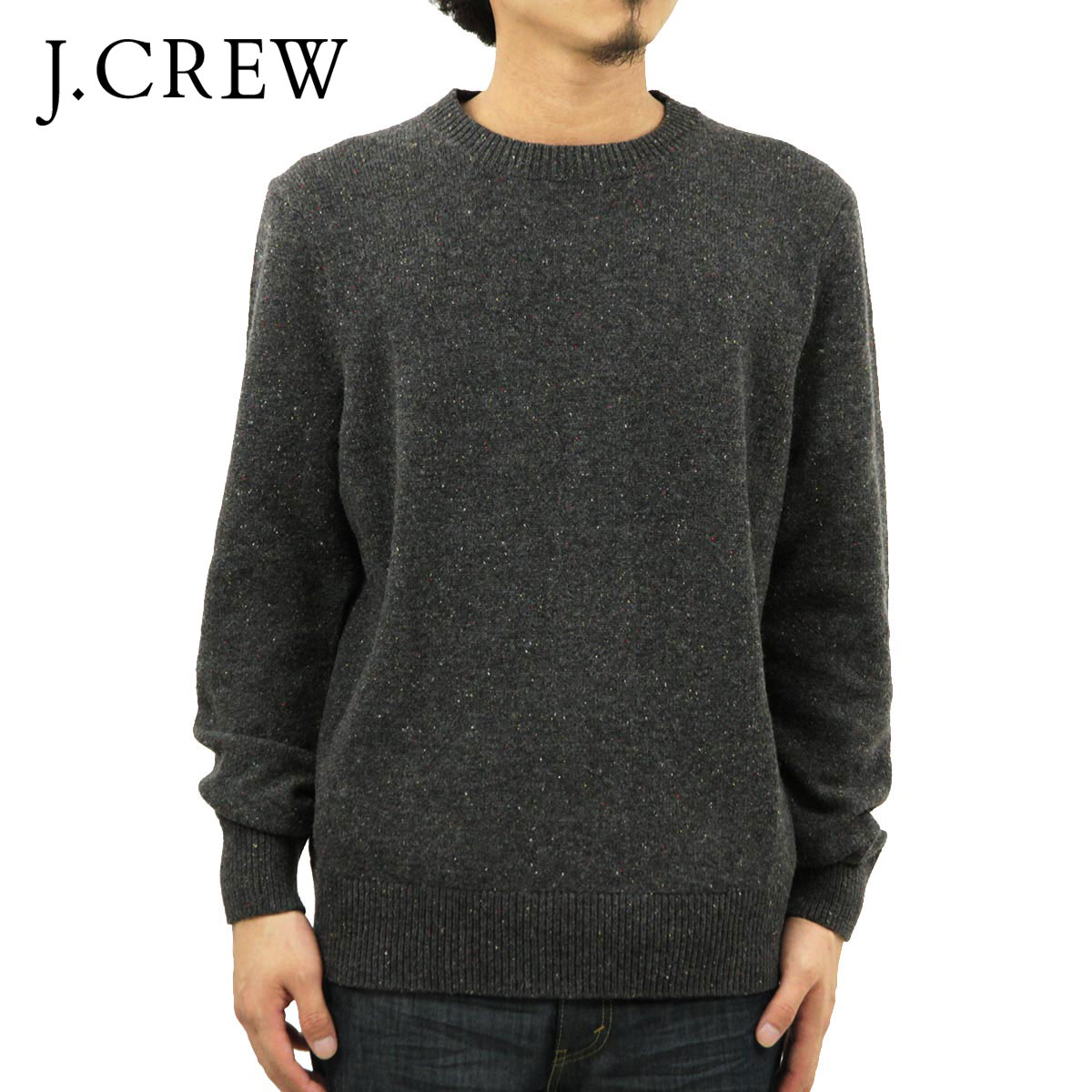 ジェイクルー セーター メンズ 正規品 J.CREW DONEGAL ELBOW-PATCH SWEATER D20S30