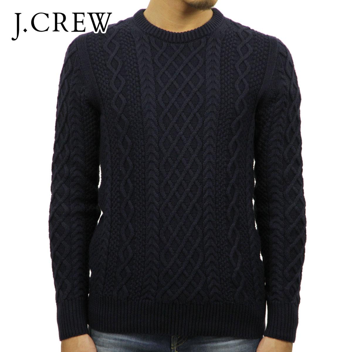 ジェイクルー セーター メンズ 正規品 J.CREW FISHERMAN CABLE CREWNECK SWEATER