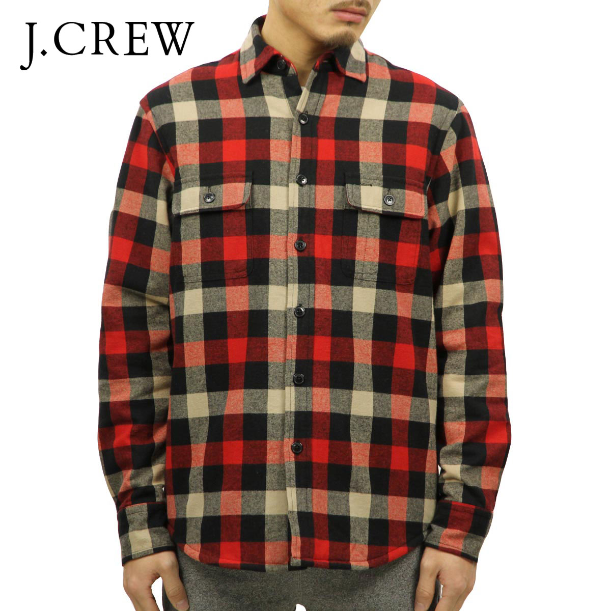 ジェイクルー J.CREW 正規品 メンズ ジャケット SHERPA-LINED FLANNEL JACKET D20S30