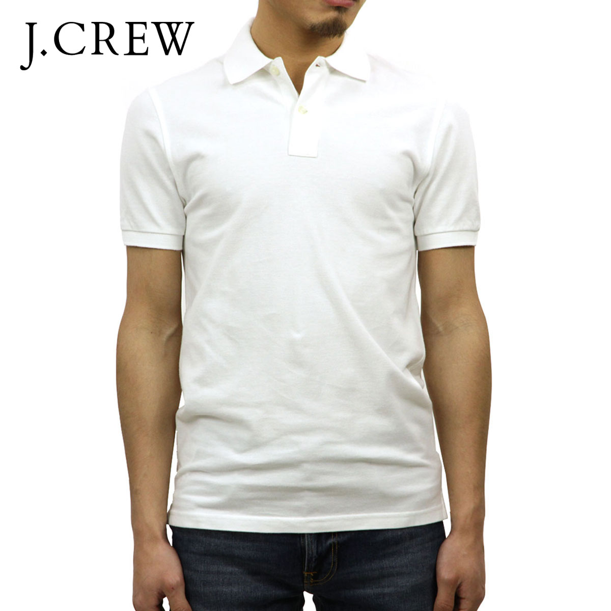 8f445853 J.crew J.CREW genuine mens short sleeve polo shirt WASHED PIQUE POLO SHIRT  15413