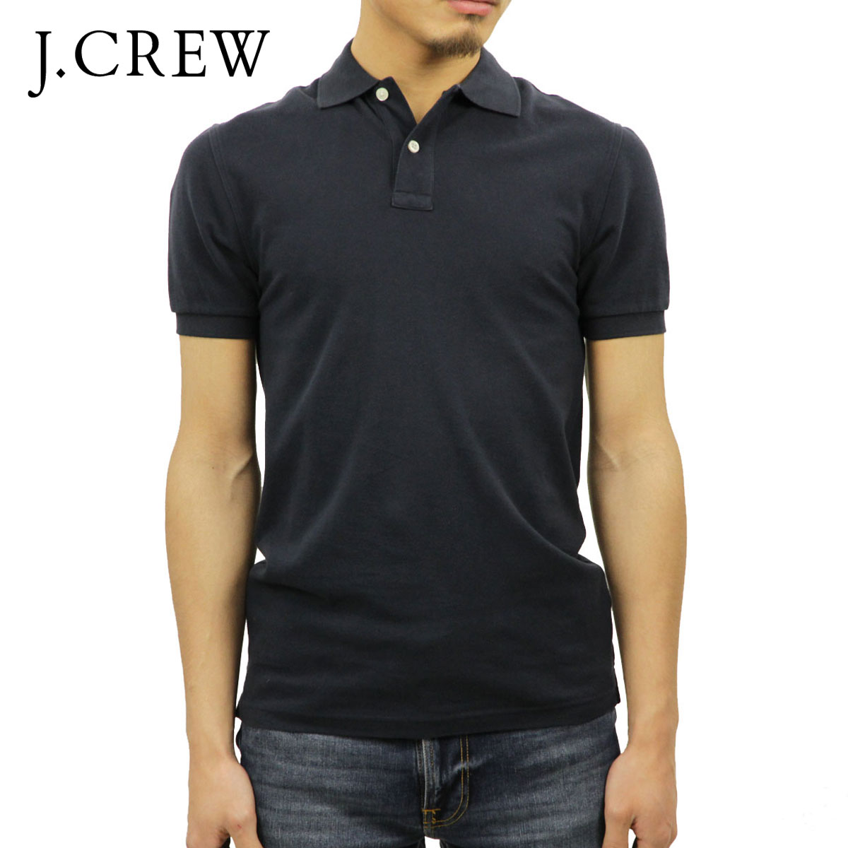 3e8ee5ef J. Crew J.CREW regular article men short sleeves polo shirt WASHED PIQUE  POLO ...