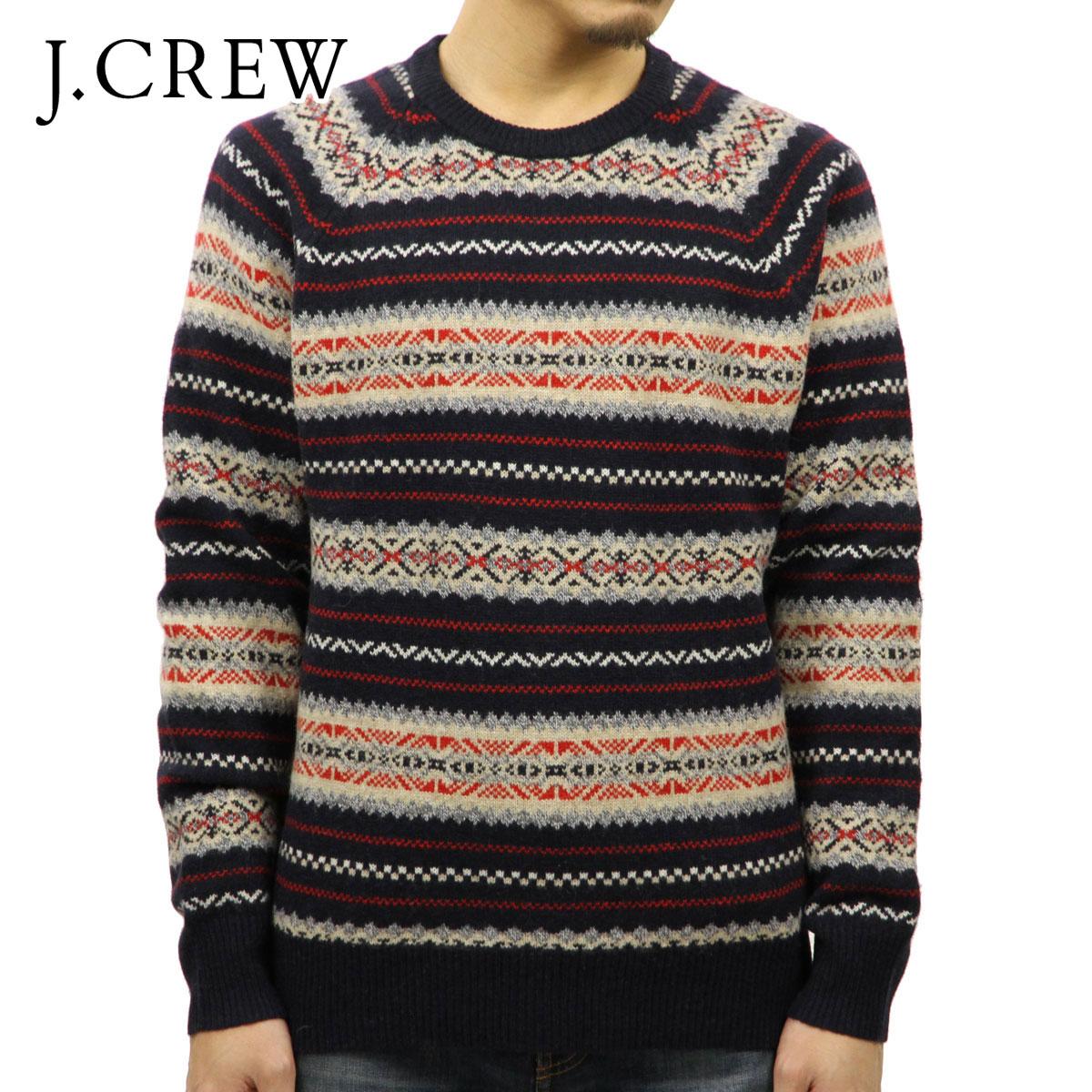 ジェイクルー J.CREW 正規品 メンズ クルーネックセーター LAMBSWOOL FAIR ISLE SWEATER H1950