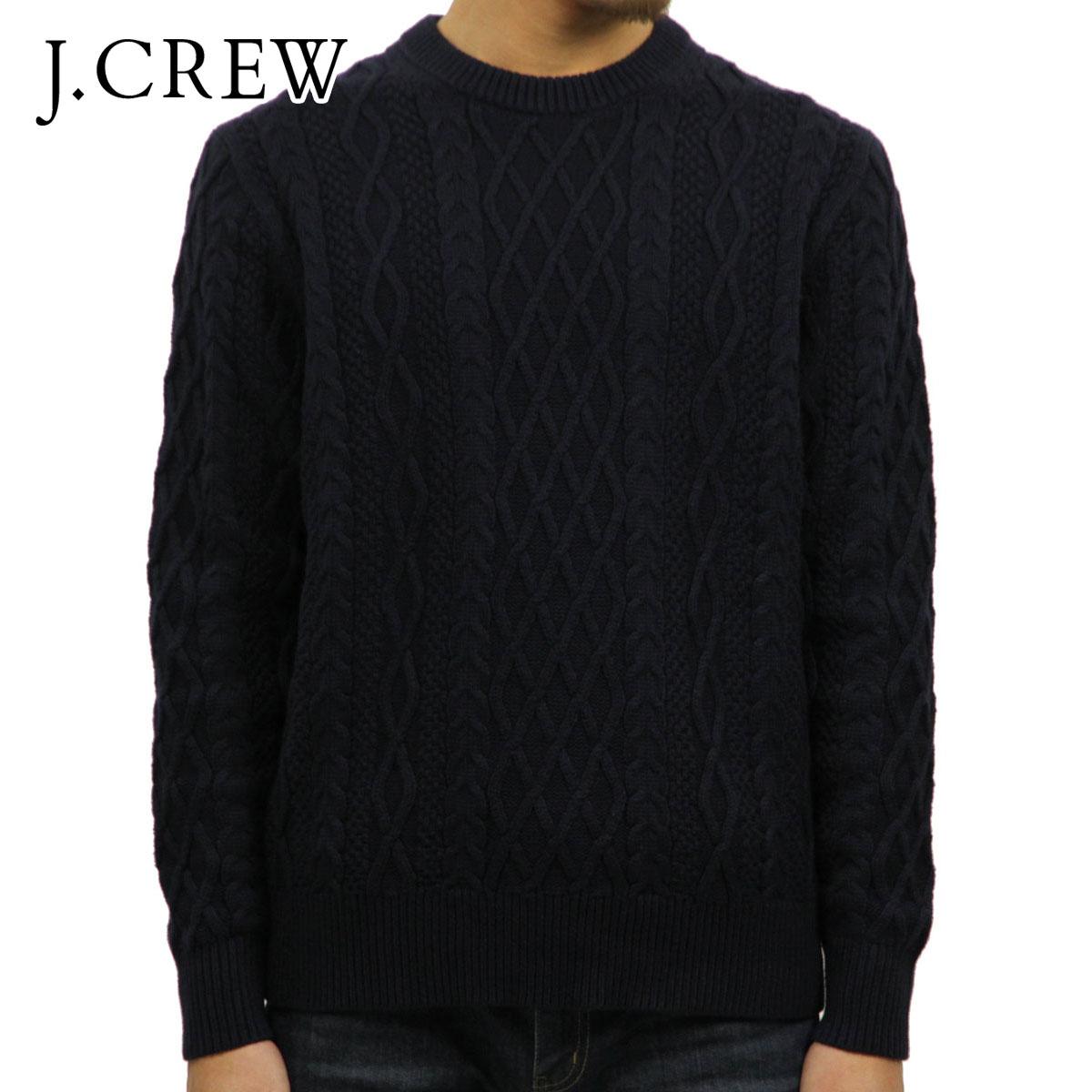 ジェイクルー J.CREW 正規品 メンズ ケーブル編みクルーネックセーター FISHERMAN CABLE CREWNECK SWEATER NAVY G3777