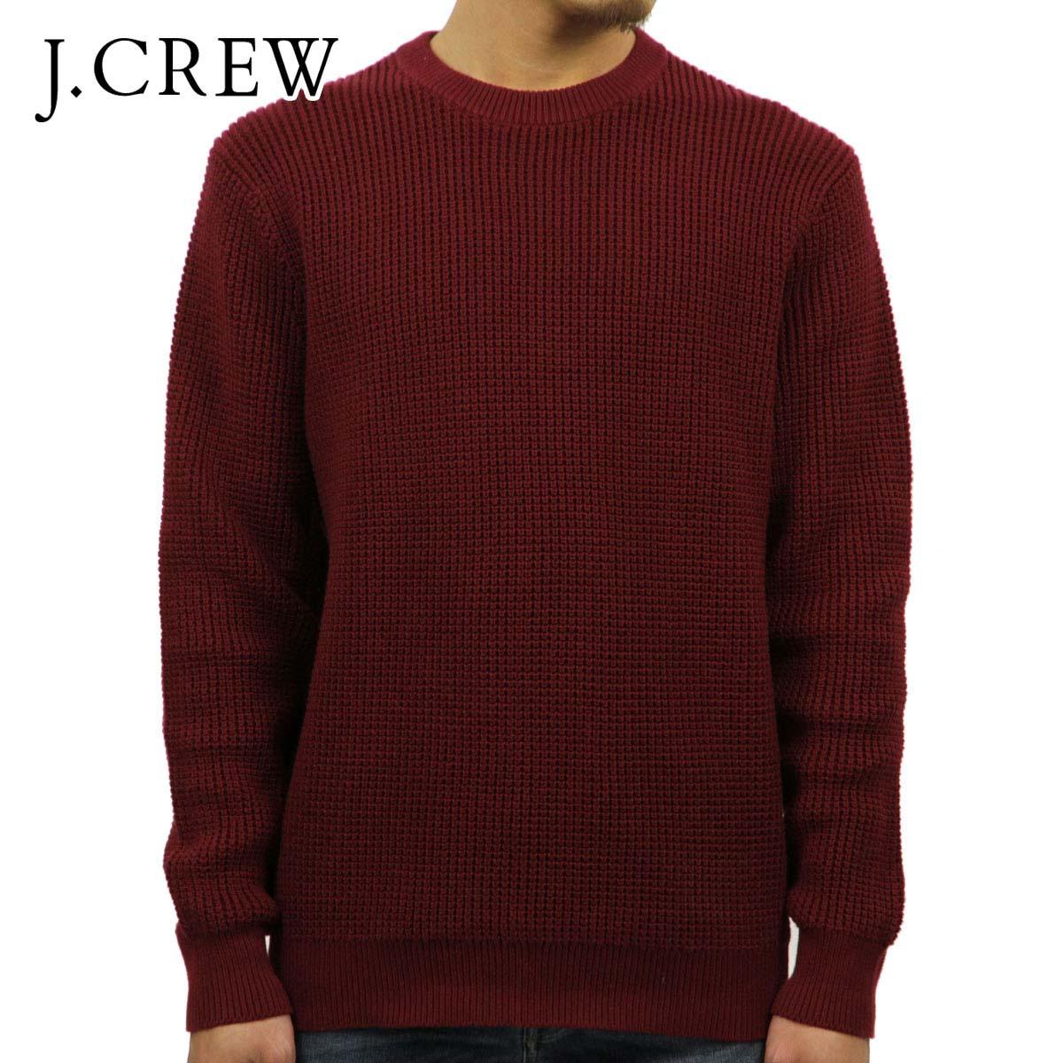 ジェイクルー J.CREW 正規品 メンズ コットンワッフルクルーネックセーター COTTON WAFFLE CREWNECK SWEATER BURGUNDY J7107