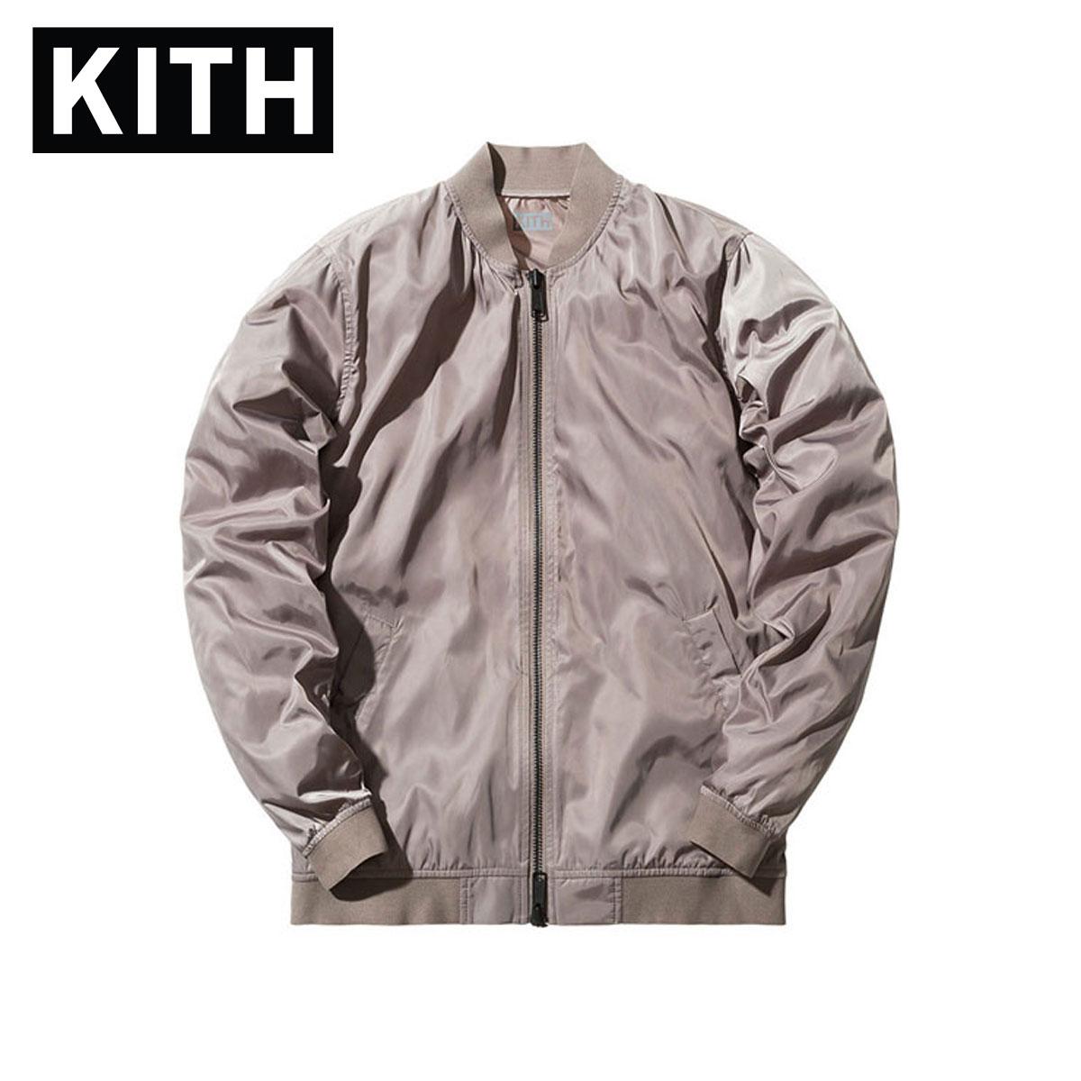 6df7fe51a Kiss KITH regular article men jacket Kith Astor Shell MA-1 - Cinder D00S15