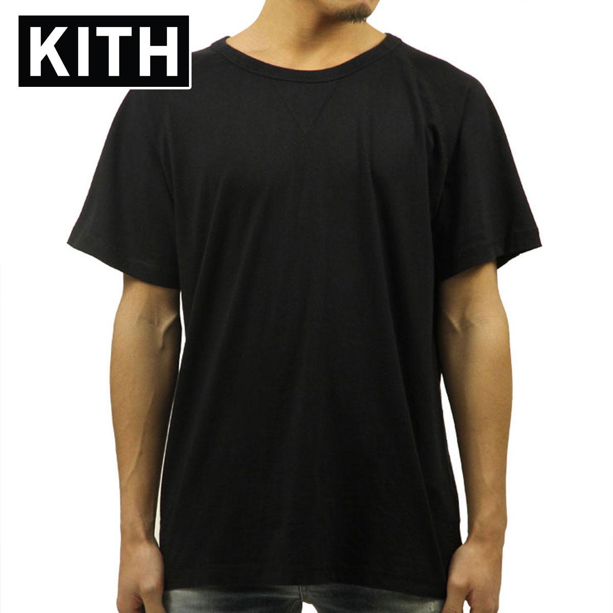 キス KITH 正規品 メンズ 半袖Tシャツ KITH LEWIS TEE - BLACK D00S15