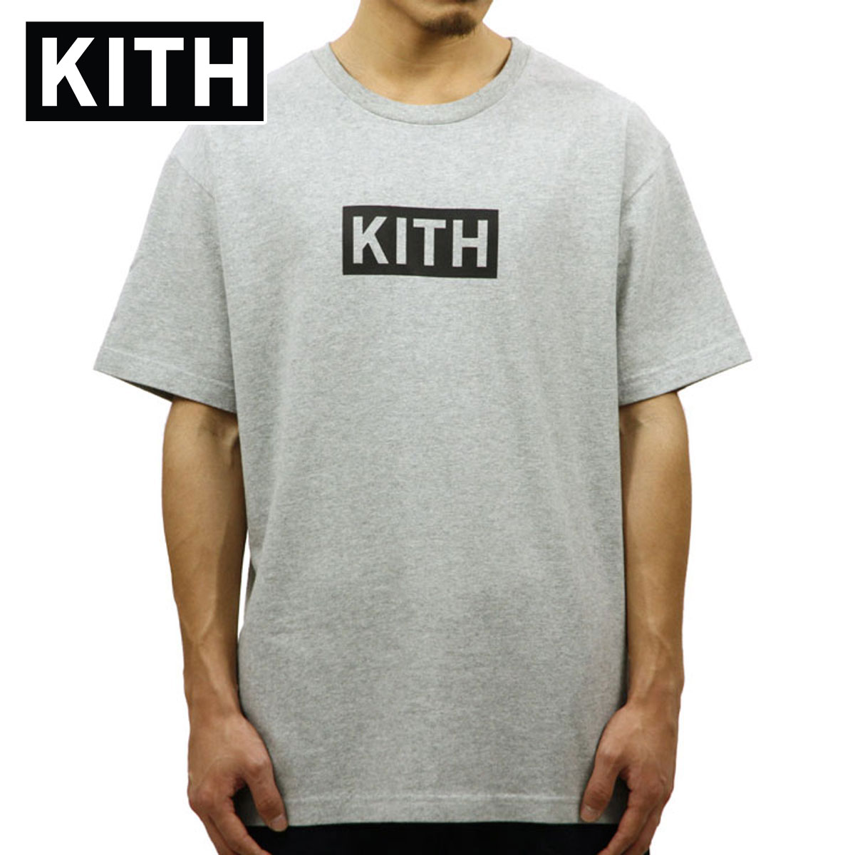 キス KITH 正規品 メンズ 半袖Tシャツ KITH CLASSIC LOGO TEE KH3139-103 GREY
