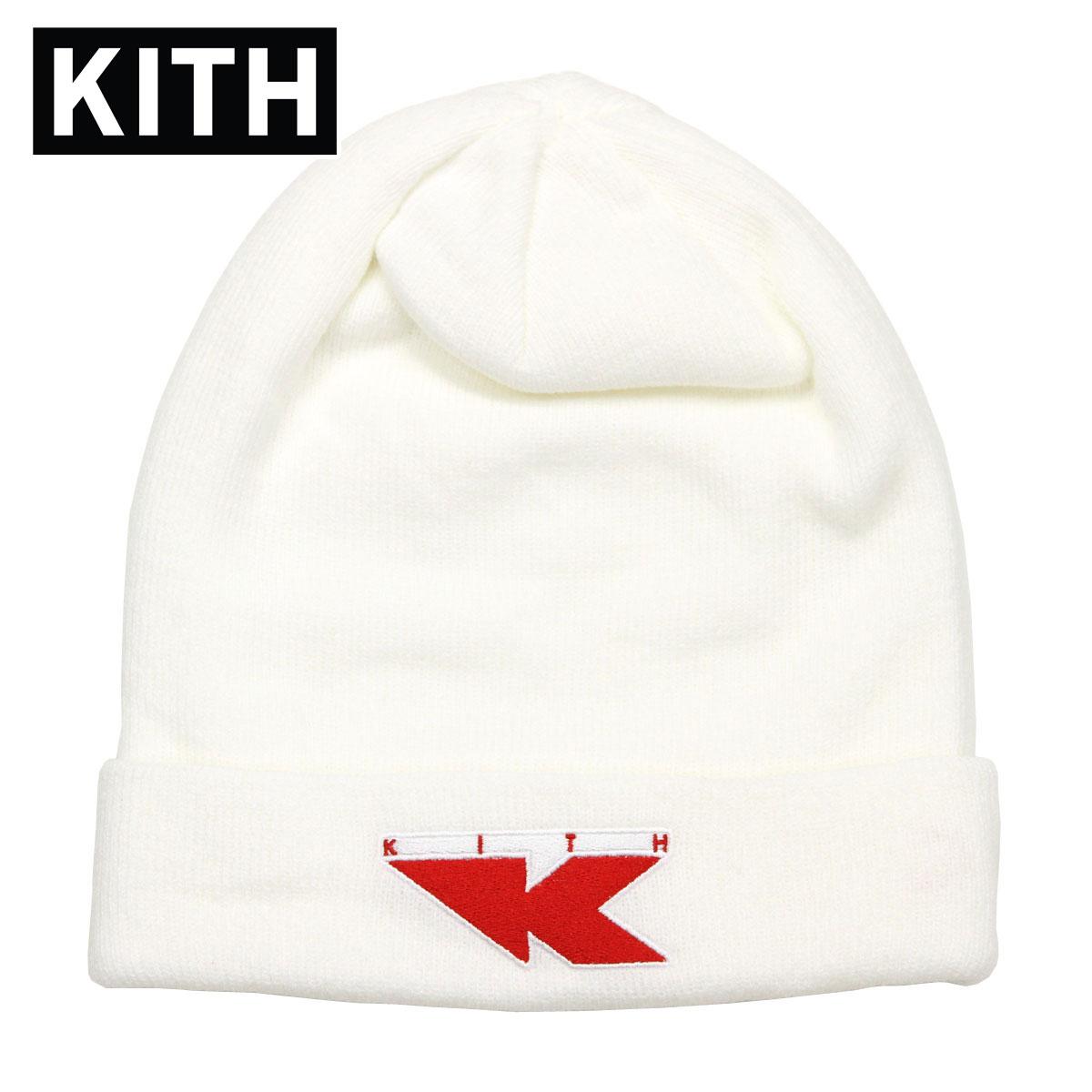 【ポイント10倍 6/4 20:00~6/11 01:59まで】 キス KITH 正規品 帽子 ニットキャップ KITH X NIKE FLIGHT BEANIE WHITE / RED NKAH9954-100 父の日