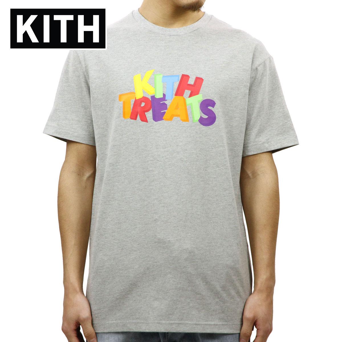 キス KITH 正規品 メンズ クルーネック 半袖Tシャツ KITH TREATS 3D TEE GREY KH3258-103