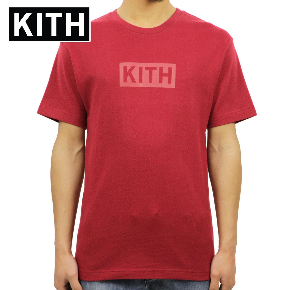 キス Tシャツ 正規品 KITH 半袖Tシャツ クルーネック KITH BOX LOGO TEE KH3139-210 RED/RED