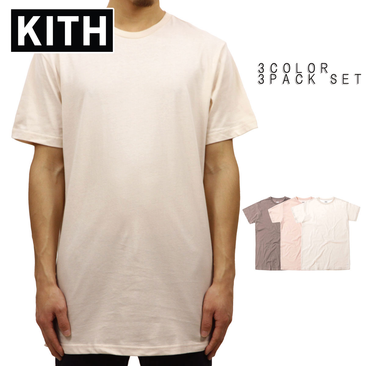 d03ead6fa87f Class three pieces of kiss KITH regular article men crew neck short sleeves  T-shirts ...