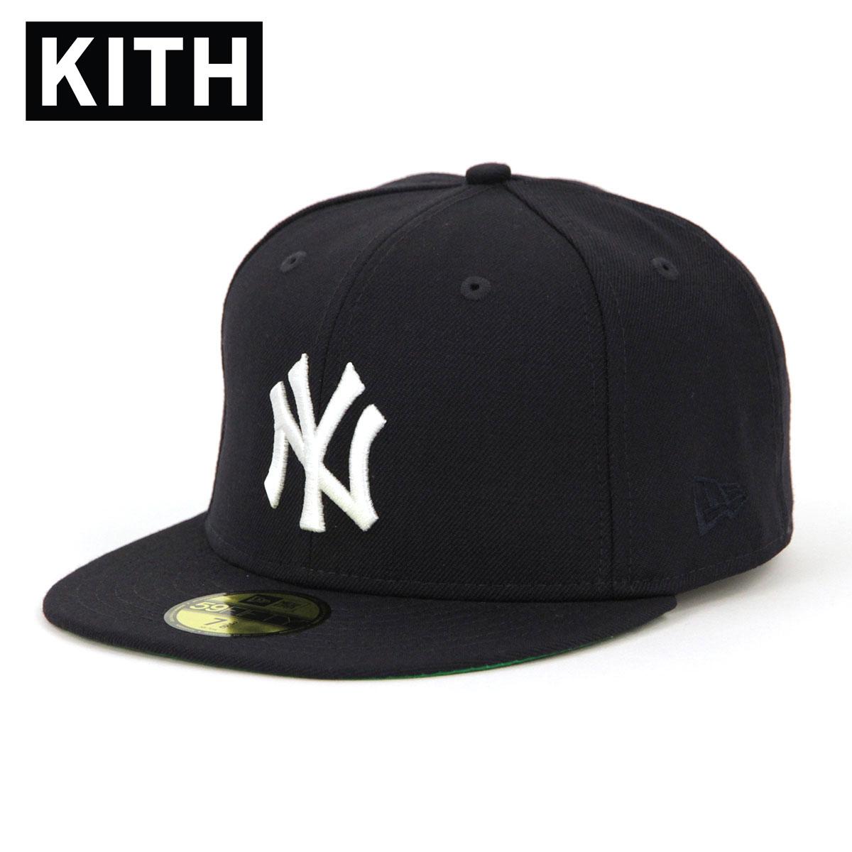 【ポイント10倍 6/4 20:00~6/11 01:59まで】 キス キャップ メンズ 正規品 KITH 帽子 KITH X NEW ERA X NEW YORK YANKEES 59FIFTY CAPS NAVY WHITE 父の日