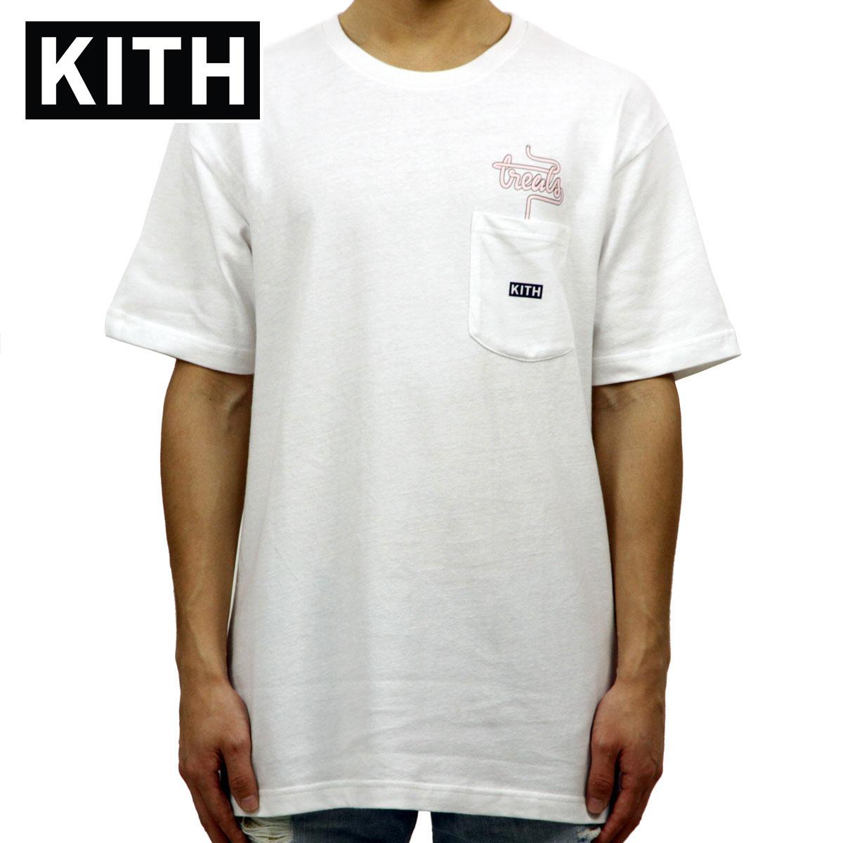 キス KITH 正規品 メンズ クルーネック 半袖ポケTシャツ KITH TREATS MILKSHAKE SPECIAL POCKET TEE KH3327-101 WHITE
